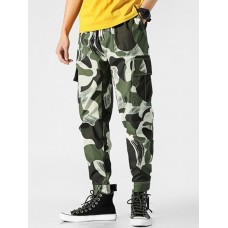Men Camouflage Printed Cargo Pants - 3xl CAMOUFLAGE GREEN new look CZWENQI